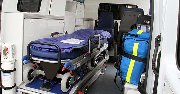 Transport en ambulance assis ou couché